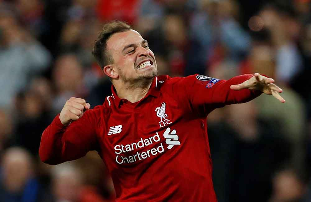Shaqiri To Start, Jones To Drop Out: Liverpool's Predicted XI For The Merseyside Derby